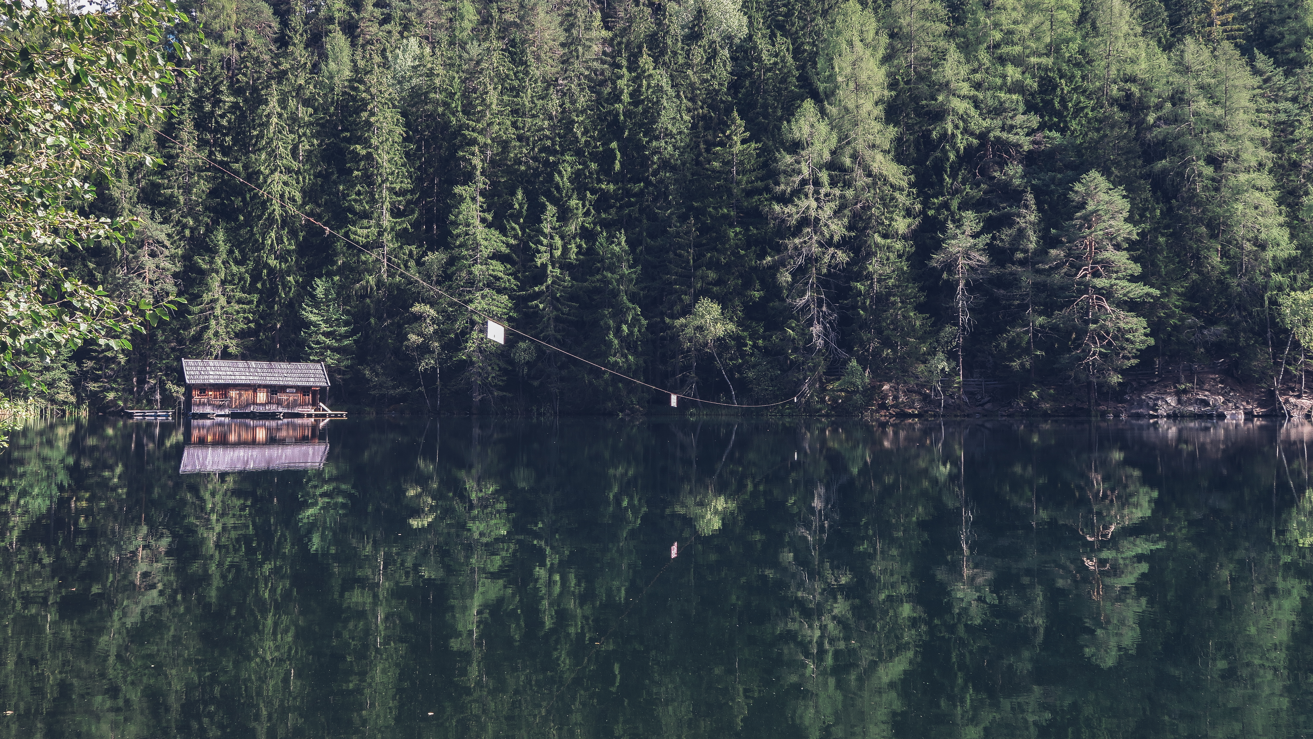 cabin on water
